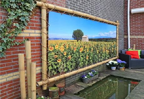tuinposter bamboeframe