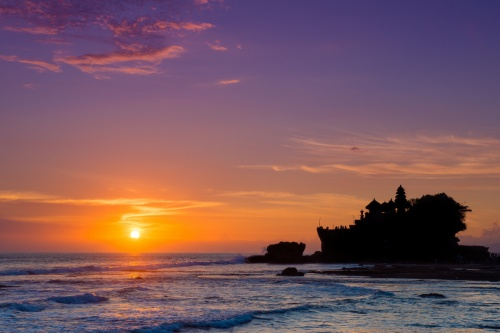 zonsondergang canvas
