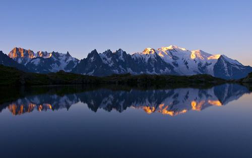 landschap schilderij bergen