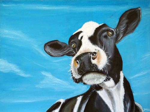 Koeien schilderijen schilderijen xl for Schilderij op aluminium