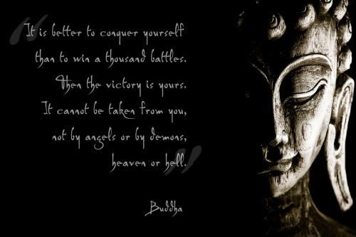 canvas buddha met inspirerende tekst