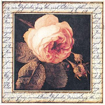 schilderij ancient rose