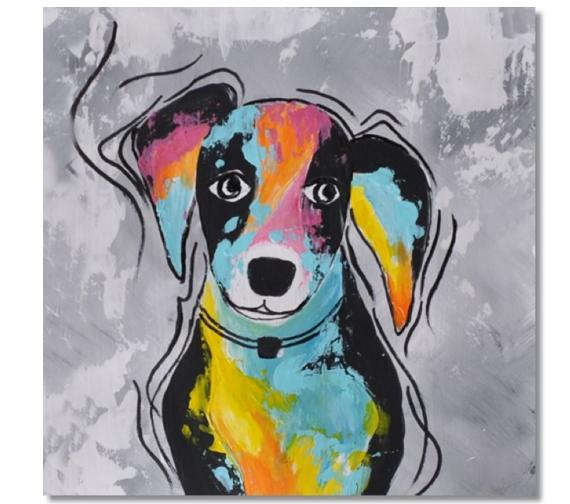 Schilderij - Bailey the Dog