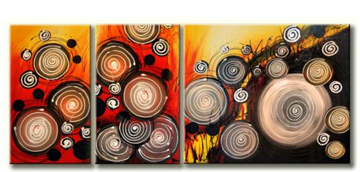 Schilderij - Colourful Swirls