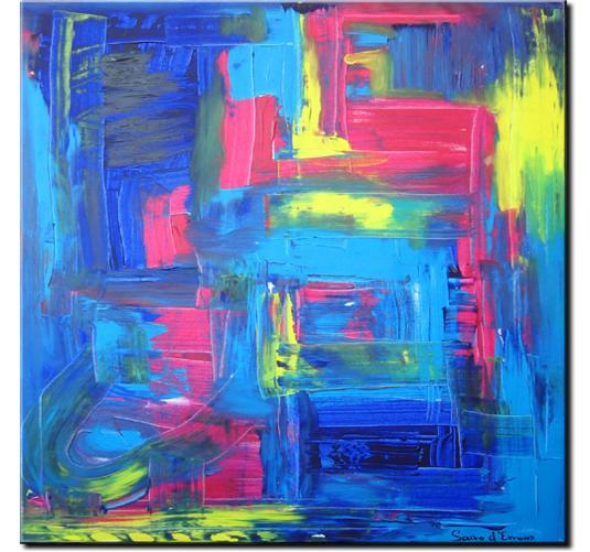 Schilderij - Exploding Colors