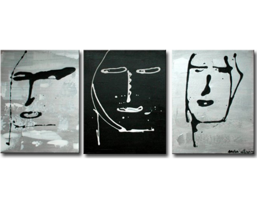 Schilderij - Faces of Venice