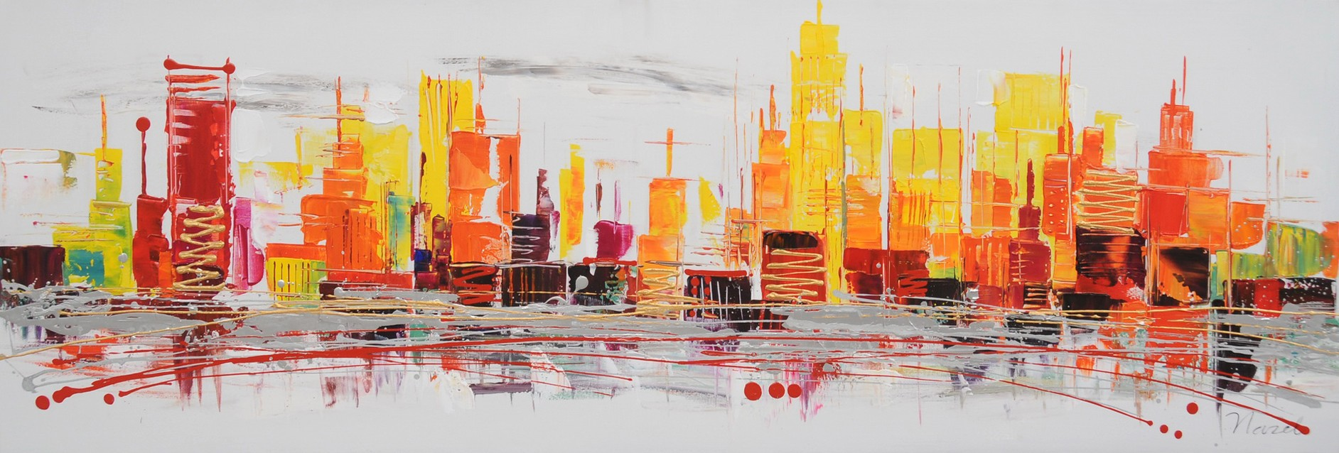 schilderij-skyline-50x150-218