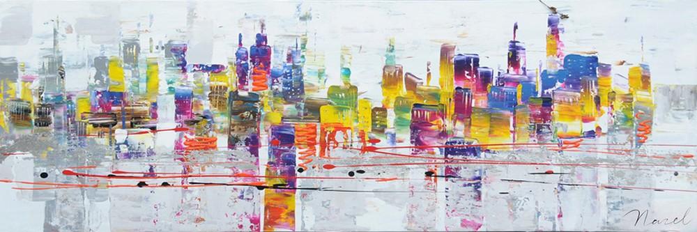 schilderij-skyline-50x150-f88