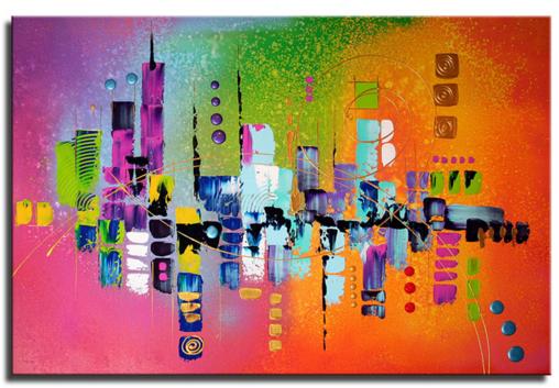 Schilderij - Summer in the City